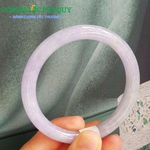 vòng cẩm thạch tím huế tròn