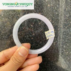 vòng cẩm thạch trắng trong tròn